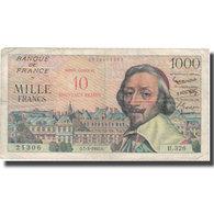 France, 10 Nouveaux Francs On 1000 Francs, 1955-1959 Overprinted With ''Nouveaux - 1955-1959 Surchargés En Nouveaux Francs