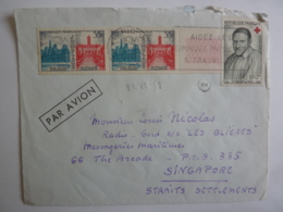 "Lettres Messageries Maritimes CARGO "" LES GLIERES"" Vers SINGAPORE STRAITS SETTLEMENTS  Timbres Divers Erinnophilie - 1921-1960: Période Moderne"