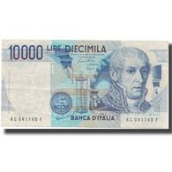 Billet, Italie, 10,000 Lire, UNDATED (1984), KM:112b, TTB - [ 2] 1946-… : République