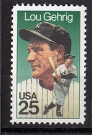 USA, 1989-Baseball Champion- Lou Gehring. MintNH - United States