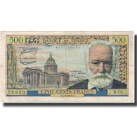 France, 500 Francs, 500 F 1954-1958 ''Victor Hugo'', 1955, 1955-08-04, TTB - 1959-1966 Nouveaux Francs