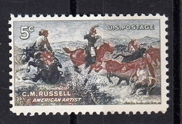 USA,1964- C.M.Russel, American Artist. MintNH - United States