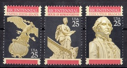 USA, 1989- Bicentennial Senate, House Of Representatives,executive Branch.  MintNH. - United States