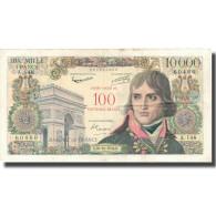 France, 100 Nouveaux Francs On 10,000 Francs, 1955-1959 Overprinted With - 1955-1959 Surchargés En Nouveaux Francs