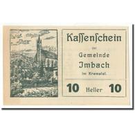 Billet, Autriche, Imbach, 10 Heller, Paysage 1, 1920, SPL, Mehl:FS 404 IIa - Autriche