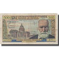 France, 500 Francs, 500 F 1954-1958 ''Victor Hugo'', 1955, 1955-08-04, TB - 5 NF 1959-1965 ''Victor Hugo''