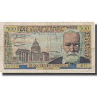 France, 500 Francs, 500 F 1954-1958 ''Victor Hugo'', 1955, 1955-08-04, TB - 1959-1966 Nouveaux Francs