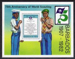 BARBADOS - 1982 SCOUT ANNIVERSARY MS FINE MNH ** SG MS 713 - Barbados (1966-...)