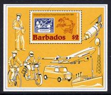 BARBADOS - 1984 UPU ANNIVERSARY MS FINE MNH ** SG MS 754 - Barbades (1966-...)