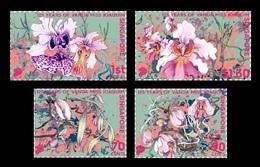 Singapore 2018 Mih. 2524/27 Flora. Flowers. Orchid Vanda Miss Joaquim MNH ** - Singapour (1959-...)