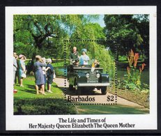 BARBADOS - 1985 LIFE & TIMES OF QUEEN MOTHER MS FINE MNH ** SG MS 783 - Barbades (1966-...)