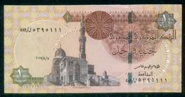 EGYPT / ONE POUND / DATE : 7 -8-2017 / P- 70 / PREFIX : L589 / SULTAN QUAYET BEY MOSQUE / ABU SIMBEL TEMPLE / UNC - Egypte