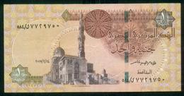 EGYPT / ONE POUND / DATE : 14 -2-2017 / P- 70 / PREFIX : L584 / SULTAN QUAYET BEY MOSQUE / ABU SIMBEL TEMPLE / USED - Egypte