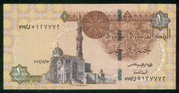 EGYPT / ONE POUND / DATE : 25 -12-2016 / P- 70 / PREFIX : L575 / SULTAN QUAYET BEY MOSQUE / ABU SIMBEL TEMPLE / USED - Egypte