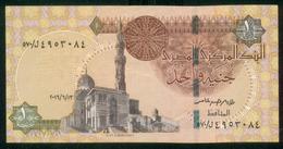 EGYPT / ONE POUND / DATE : 13 -6-2016 / P- 70 / PREFIX : L570 / SULTAN QUAYET BEY MOSQUE / ABU SIMBEL TEMPLE / USED - Egypte