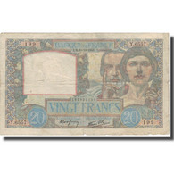 France, 20 Francs, 20 F 1939-1942 ''Science Et Travail'', 1941, 1941-10-30, TB - 1871-1952 Anciens Francs Circulés Au XXème