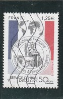 FRANCE 2015 SERVICE CENTRAL D ETAT CIVIL YT 4959 OBLITERE - France