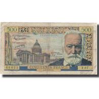 France, 500 Francs, 500 F 1954-1958 ''Victor Hugo'', 1958, 1958-02-06, TB - 5 NF 1959-1965 ''Victor Hugo''