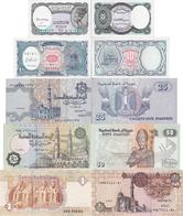 Egypt Set 5 Pcs 5+10+25+50 Piastres+1 Pound - Pick 50-189 UNC Random Years - Egypte