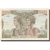 France, 5000 Francs, 5 000 F 1949-1957 ''Terre Et Mer'', 1949, 1949-11-03, TB - 1871-1952 Gedurende De XXste In Omloop