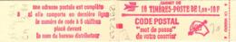 France Carnet N** Yv:1892-C2 10 Tbres 1,00=10F Code Postal Conf.3 à 5-7-8-sans - Usage Courant