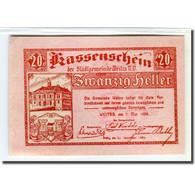 Billet, Autriche, Weitra, 20 Heller, Paysage 5, 1920, 1920-05-07, SPL - Autriche