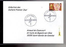 """"""" TETE DE PERICLES / ADHESIF """" Sur Enveloppe 1er Jour De 2007 De La Collection """" CACHETS PREMIER JOUR """" N°YT ADH 113 - France"""