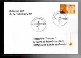 """"""" STATUE EGYPTIENNE / ADHESIF """" Sur Enveloppe 1er Jour De 2007 De La Collection """" CACHETS PREMIER JOUR """" N°YT ADH 112 - France"""