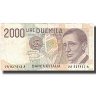 Billet, Italie, 2000 Lire, Undated (1990), KM:115, TTB - [ 2] 1946-… : Républic