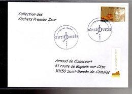 """"""" SARCOPHAGE / ADHESIF """" Sur Enveloppe 1er Jour De 2007 De La Collection """" CACHETS PREMIER JOUR """" N°YT ADH 111 - France"""