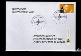 """"""" PHARAON / ADHESIF """" Sur Enveloppe 1er Jour De 2007 De La Collection """" CACHETS PREMIER JOUR """" N°YT ADH 108 - France"""