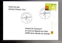 """"""" FRESQUE A POMPEI / ADHESIF """" Sur Enveloppe 1er Jour De 2007 De La Collection """" CACHETS PREMIER JOUR """" N°YT ADH 107 - France"""