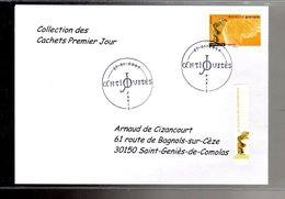 """"""" SAMOTHRACE / ADHESIF """" Sur Enveloppe 1er Jour De 2007 De La Collection """" CACHETS PREMIER JOUR """" N°YT ADH 106 - France"""