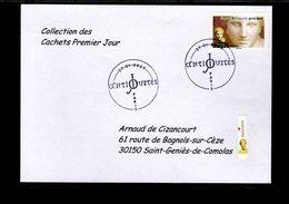""""""" DEESSE APHRODITE / ADHESIF """" Sur Enveloppe 1er Jour De 2007 De La Collection """" CACHETS PREMIER JOUR """" N°YT ADH 105 - France"""