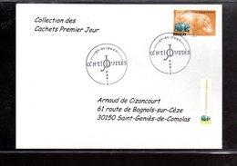 """"""" HIPPOPOTAME EGYPTIEN / ADHESIF """" Sur Enveloppe 1er Jour De 2007 De La Collection """" CACHETS PREMIER JOUR """" N°YT ADH 104 - France"""