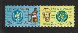 EGYPTE 1968 OMS  YVERT N°723/24  NEUF MNH** - WHO