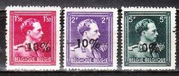 724N/P**  Leopold III Col Ouvert Surchargé -10% - RENAIX - Série Complète - MNH** - LOOK!!!! - 1946 -10%