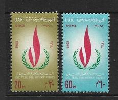 EGYPTE 1968 DROITS DE L'HOMME  YVERT N°720/21  NEUF MNH** - Egypt