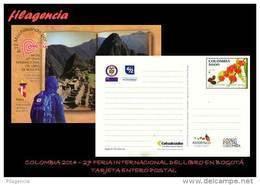 AMERICA. COLOMBIA. ENTEROS POSTALES. TARJETA POSTAL FRANQUEO PREPAGO. 2014 27 FERIA INTERNACIONAL DEL LIBRO DE BOGOTA - Colombie