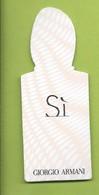 GIORGIO ARMANI * SI * - Cartes Parfumées