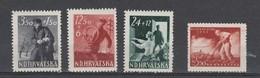 Croatie  1945  N° 134 / 36 + 139  Neuf X X  4 Valeurs - Croatie