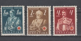 Croatie 1941  N° 46 / 48 Neuf X   Serie Compl. 3 Valeurs - Croatie