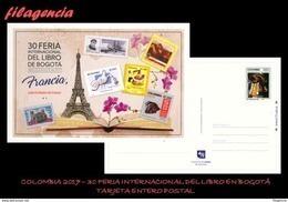 AMERICA. COLOMBIA. ENTEROS POSTALES. TARJETA POSTAL FRANQUEO PREPAGO. 2017 FERIA INTERNACIONAL DEL LIBRO EN BOGOTA - Colombia