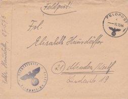 German Feldpost WW2: With Russian Cossacks - Ost-Reiter-Abteilung 580  FP 27573 P/m 10.10.1944 - Short Letter - Militaria