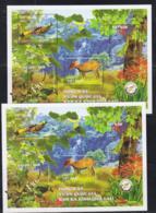 WILDLIFE -  VIETNAM -  2018  - CAI LAI NATIONAL PARK FAUNA S/SHEETS PERF & IMPERF MNH - Columbiformes