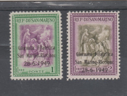 Saint Marin   1949  N° 333 A  / B  Neuf XX  Paire  Journée Philatélique - Saint-Marin