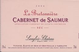 CABERNET DE SAUMUR SEC LE BRETONNIERE  2006 (8) - Etiquettes