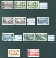CANADA  - MNH/*** LUXE - 1967 - PAINTS  - Yv 383-389 WITH VARIETY - Lot 18489 - 1952-.... Règne D'Elizabeth II