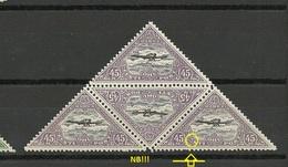 Estland Estonia 1927 Michel 52 A As 4-block Incl ERROR Abart E: 2 (Pos. 3 In Sheet) MNH - Estonie