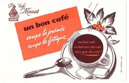 Buvard  20.9 X 13.5 Café MASSAT (2)  Tasse   Sucre  Cuiller - Café & Thé